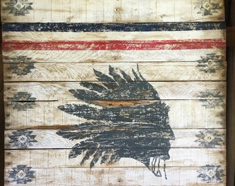 Indian # chief #distressed #rustic