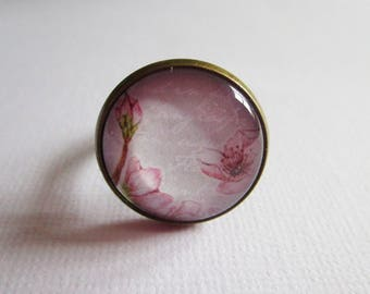 "Ring ""Flowers of Japan II"", bronze, costume jewelry"