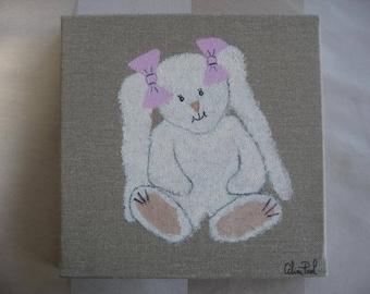 Free shipping! White Rabbit painting
