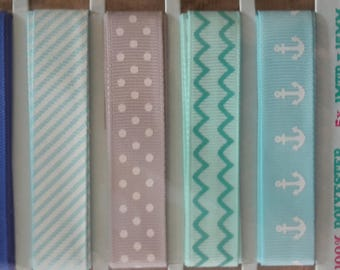 X 5 sewing scrapbooking patterned ribbons