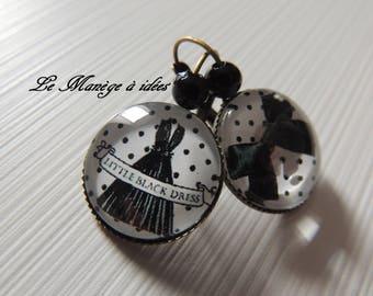 """Bronze metal earrings """"Little black dress"""" Joliesboucles"""
