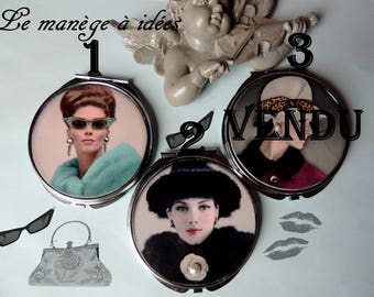 """ATOUCOEUR"" Silver Metal purse mirror: price of the mirror"