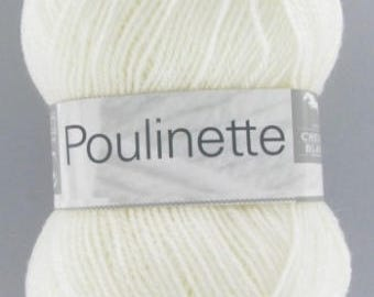 POULINETTE # 011 white horse white baby yarn