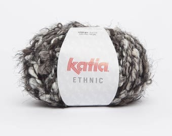 Chunky yarn wool Katia - ETHNIC - 57 N gray-Brown-ecru