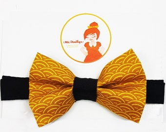 Bow tie mustard and black
