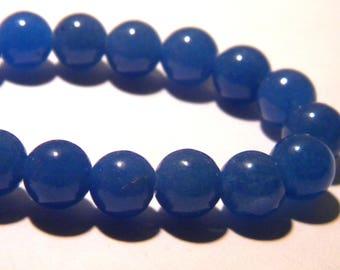 15 pearls jade natural gemstone - blue - 8 mm gemstone - Pearl jade - natural gemstones - K65-3
