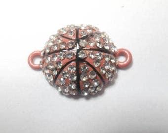 1 basketball rhinestone connector
