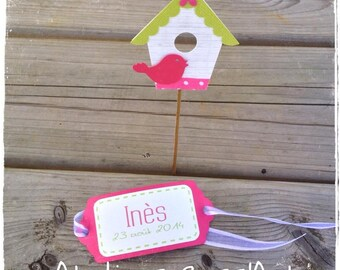 personalized bird nest scrap label