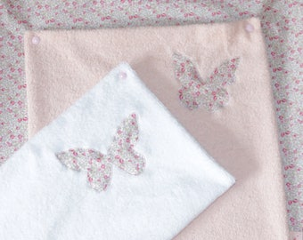 Changing mat cover liberty Eloise + 2 nappies sponge