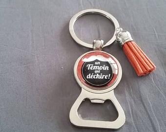 "key ring bottle opener ""someone who rocks"" ref: DETEM15 by Lolaclarabijoux"