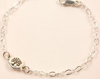 Women bracelet made of 925 sterling silver, tree of life