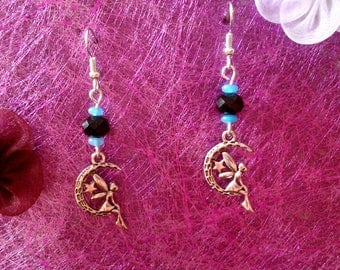Earrings fairy on Moon