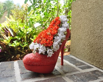 High Heel Bouquet with shoe box display