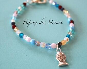 Silver fish bracelet