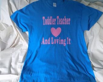Toddler Teacher/Caregiver Adult T-Shirt