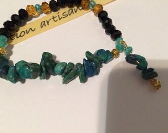 Chrysocolla bracelet high quality
