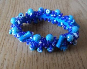 Summer blue beaded bracelet different colors