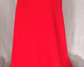 1960s Red Maxi Long Skirt