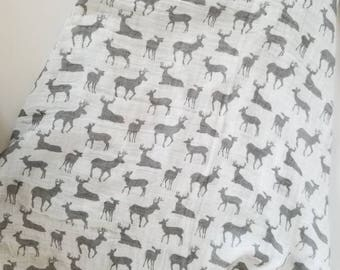 Deer blanket. Muslin blanket. Double gauze blanket. X-large blanket