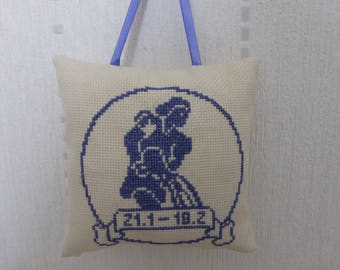 Pillow - Aquarius zodiac sign