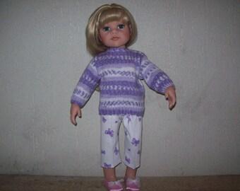 clothes for dolls Hanna Götz Capri pants and sweater (50 cm)