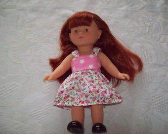 dress for doll 20 cm:type corolline imprimé(style liberty) cotton dress