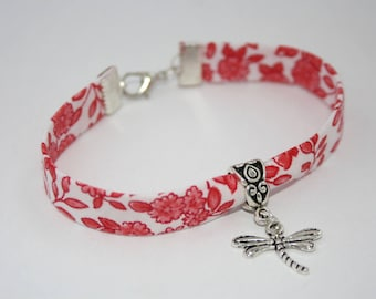 White and Red Liberty Dragonfly bracelet