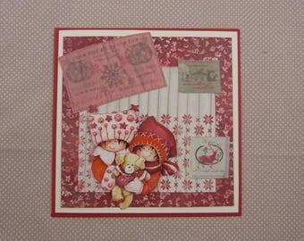 """Noel"" 3D handmade card"