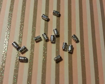 spacer beads 5 bails Tube 3 x 10mm flower