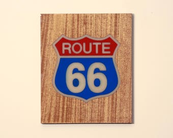 Route 66 phosphorescent (bleu) Glow in the Dark