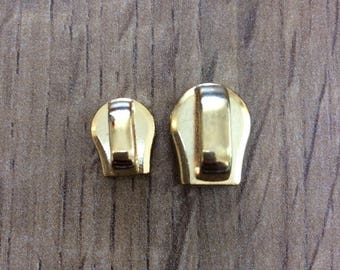 Zipper Heads/stoppers - Gold