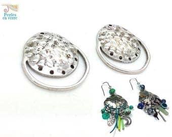 2 chandelier for 28x30mm (co125) nickel silver metal earrings