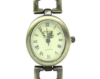 5 watch dials brass 5x2.8 cm (battery included)