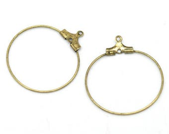 10 glass rings or earring 30x26mm flutes