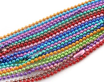 1 necklace 1.50 mm ball bead chain Pearl connector 70 cm