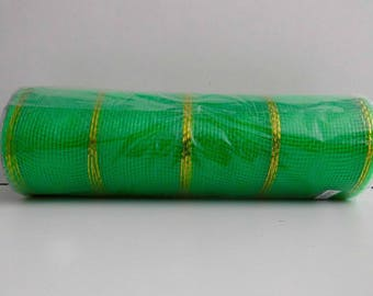 TABLE-GIFT-FLORAL DECO: TULLE GREEN AND GOLD