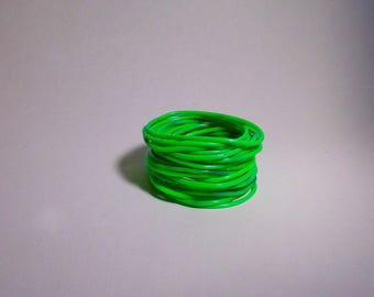RINGS BRACELETS GREEN SILICONE 7CM