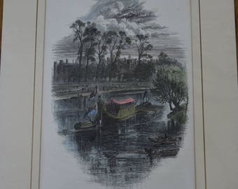 c1878 Original Handcoloured Print Gala Day at Hampton Court Palace