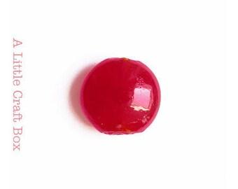 2 flat 2cm - red Round Lampwork beads