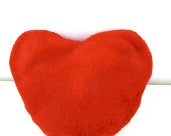 Soft red fleece heart