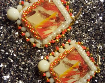 Small dangle beaded earrings