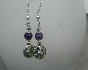 Handmade dangling earrings is hand - natural stones - 925 sterling silver bail
