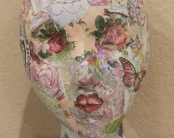 Decoupage Mannequin Head