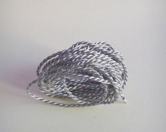 Silver 3 mm cord / braided Textile - 4 meters