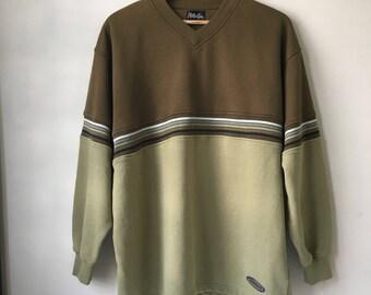 Vintage MAUI AND SONS Sweatshirt Colour Blocking Size 2L