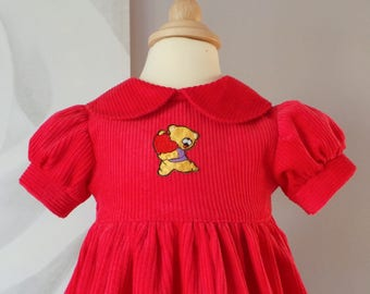 pretty red corduroy dress