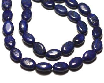 Wire 31pc - stone beads - Lapis Lazuli oval 12x8mm approx 39cm