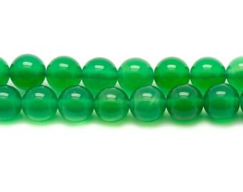 10pc - stone beads - green Onyx balls 4mm 4558550037572