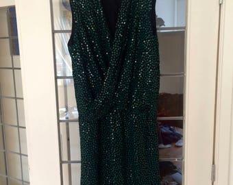 Diane von Furstenburg Sequin Wrap Dress US 12