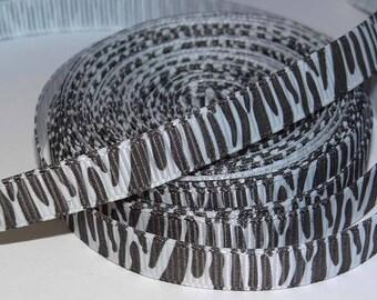 Zebra black and white 10mm Ribbon